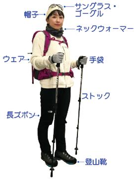 天候の良い時の服装