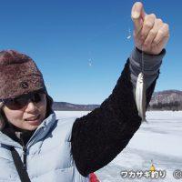 冬の網走観光を満喫 手ぶらで氷上ワカサギ釣り体験ツアー