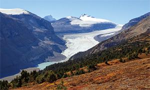 パーカリッジより氷河を望む