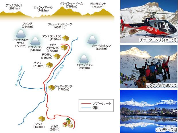 絶景のアンナプルナベースキャンプ(4,130m)トレッキング 9日間